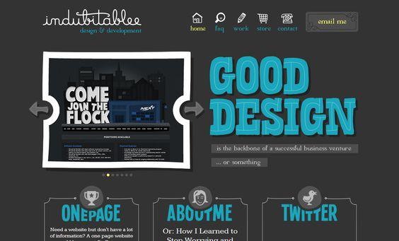 Ejemplos de tipografía web