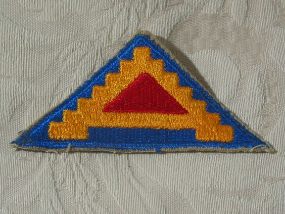 "MILITARY SHOULDER PATCH 7th (Seventh) U.S. Army 'Pyramid Of Power"" No Combat  Junk_639  http://ajunkeeshoppe.blogspot.com/"