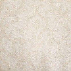 Diseño con motivos tipo barroco color crema en este papel pintado de la colección Windsor XII de Parati.