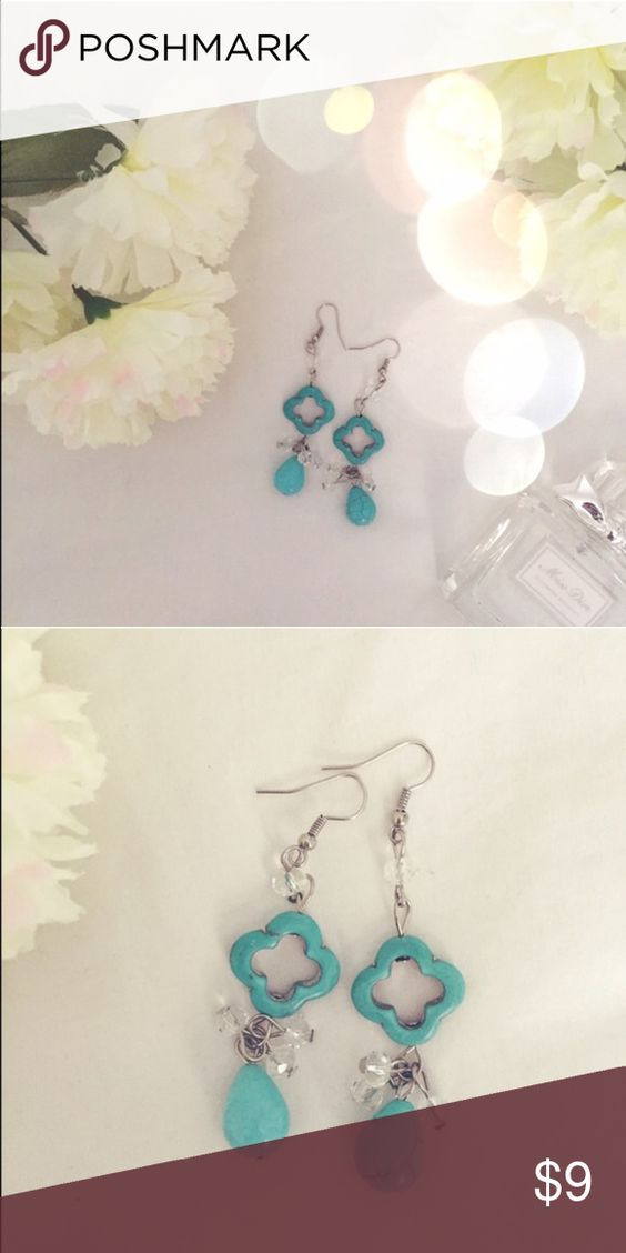 Turquoise Beaded Earrings Super cute, dangly earrings. In perfect condition.  Francesca's Collections Jewelry Earrings
