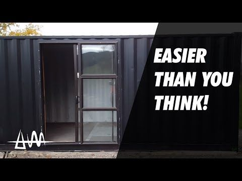 10 How Difficult Is It To Put A Door In A Shipping Container Youtube Shipping Container Make A Door 40ft Container