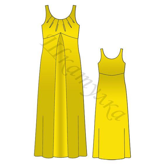 Выкройка платья-сарафана для беременных: