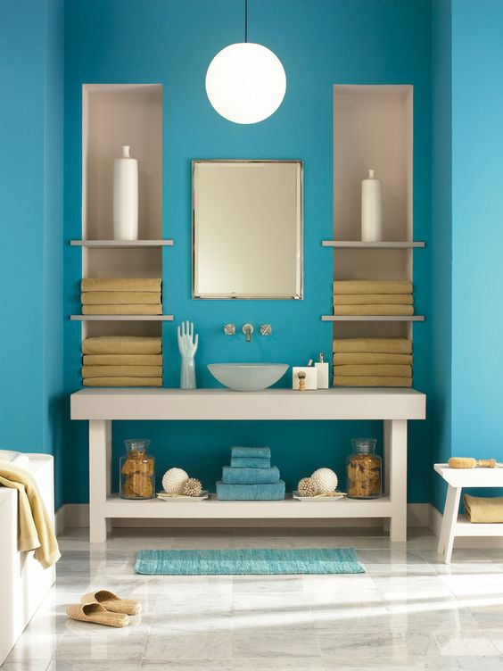 benjamin moore 2054-40 blue lagoon, 2112-50 stormy monday, 2112-70 american white, 2153-40 cork