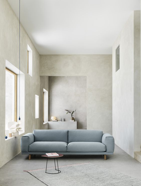 Muuto Rest Sofa Adds A Welcoming Plush Look To Any Space Here It Maintains The Timeless Elegance Of Sca Home Interior Design Interior Design Modern Interior