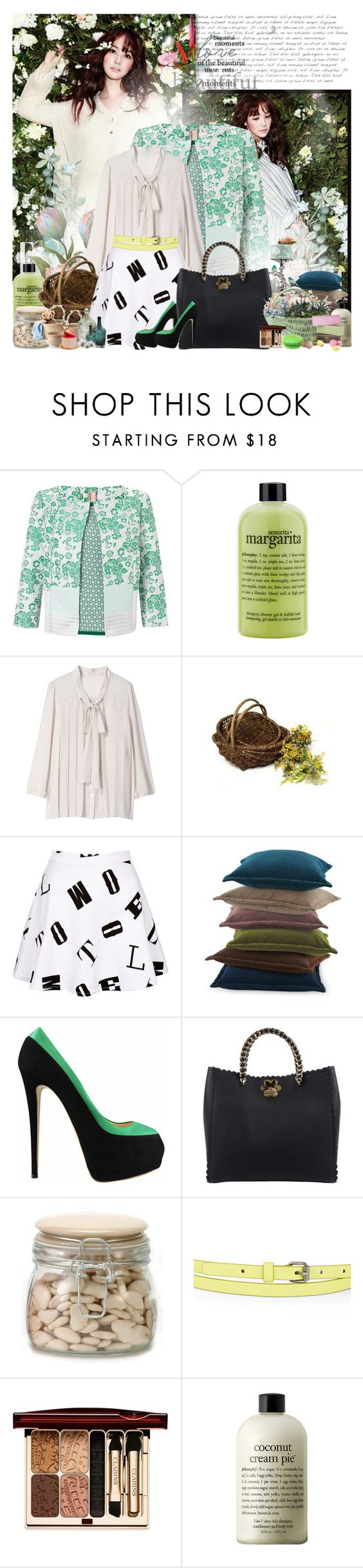 """Refresh"" by rainie-minnie ❤ liked on Polyvore featuring Antonio Marras, philosophy, French Country, Motel, Giuseppe Zanotti, Mulberry, BCBGMAXAZRIA, Clarins and INC International Concepts"