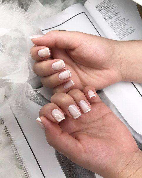 Молочный френч на #luxio_coy #nails #vogue #manicure #wedding #luxio #маникюр #ногти #френч #французскийманикюр