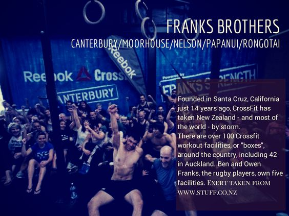 #crossfit news Franks Brothers