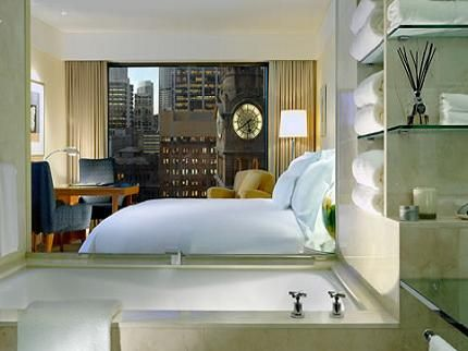 The beds in the Westin Hotel, Sydney
