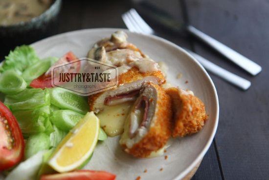 Resep Chicken Cordon Bleu Dengan Saus Jamur Chicken Cordon Bleu Resep Masakan Jamur