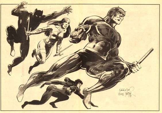 Daredevil and friends by Frank Miller