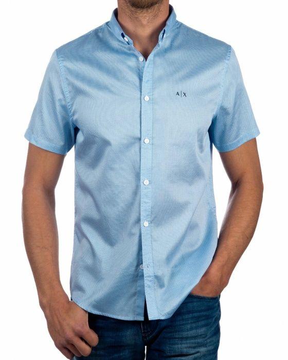 Camisa Manga Corta  Azul Celeste