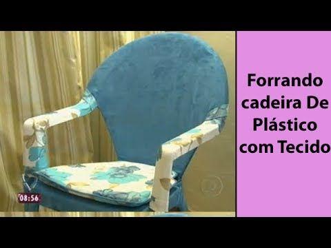 Interessante demais || Forrando cadeira De Plástico com Tecido