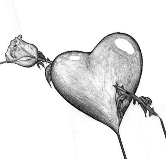 Kartinki Dlya Srisovki Pro Lyubov Samye Milye I Prikolnye 11 Heart Sketch Art Drawings