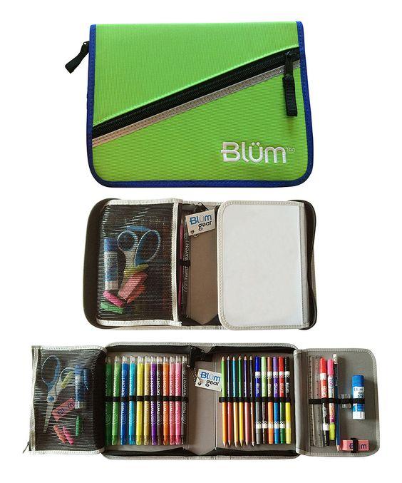 Look at this #zulilyfind! Lime & Cobalt Grades 2-4 School Gear Set by Blüm #zulilyfinds