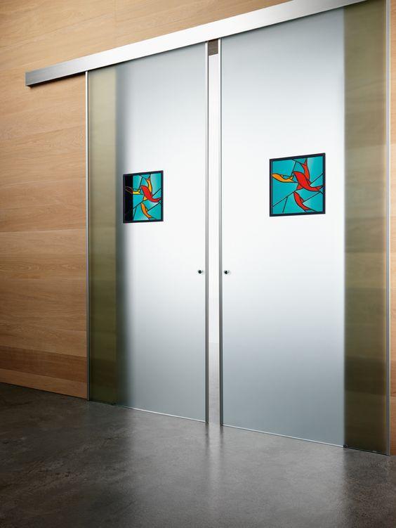 Doppia porta scorrevole esterno muro classic linea new - Porta scorrevole doppia ...