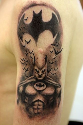 Batman Tattoo By The Tattoo Studio, Via Flickr