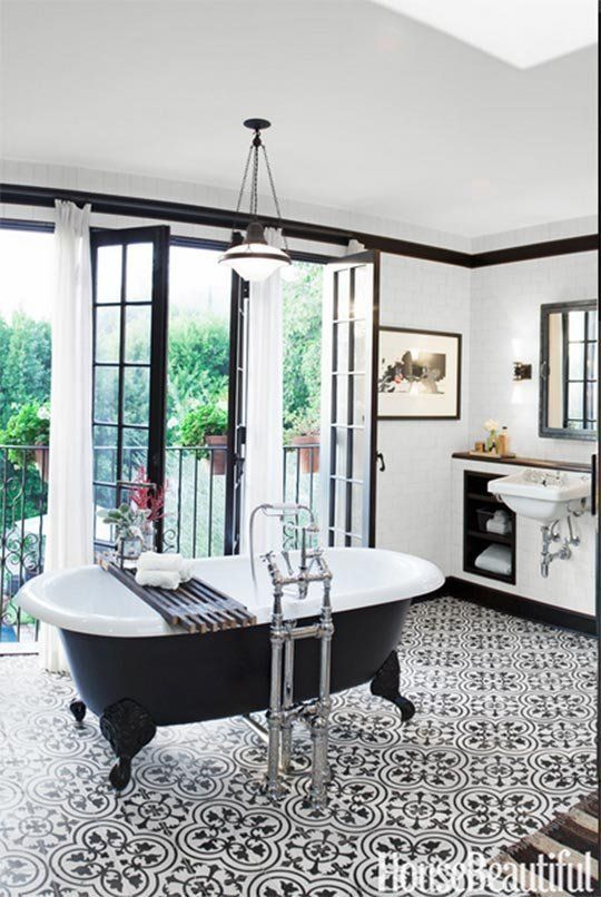 House Beautiful named this retro industrial bathroom one of its favorites of 2013.