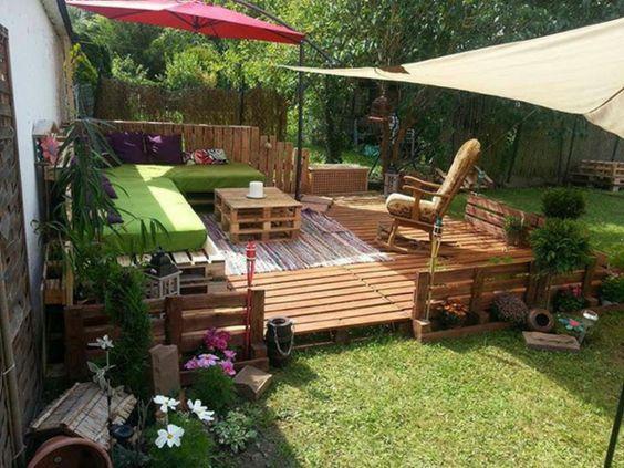 Europaletten Recyceln U2013 DIY Möbel Aus Holzpaletten   Europaletten Recyceln  Garten Möbel Holz Originell Idee Design   Pinterest   Gardens, Backyard And  ...
