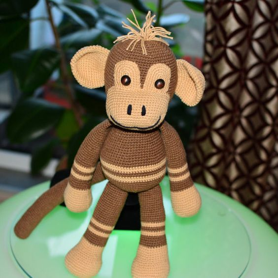Amigurumi Big Monkey : Monkey toy, Amigurumi crochet Monkey, Big Monkey, Brown ...