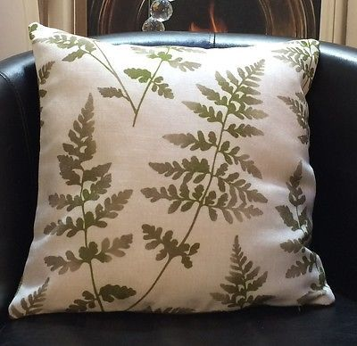 White With Green Leaf Design Evans Lichfield Cushion Cover in Home, Furniture & DIY, Home Decor, Cushions | eBay