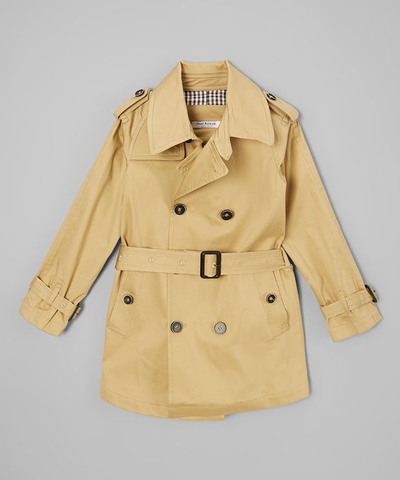 Look at this Isaac Mizrahi Tan Trench Coat - Toddler & Boys on #zulily today!