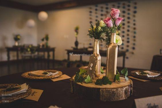 Centros de mesa para casamentos rústicos