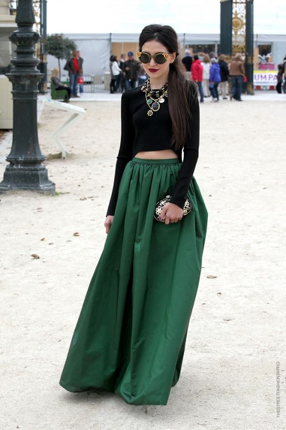 Black velvet skirt long – Modern skirts blog for you