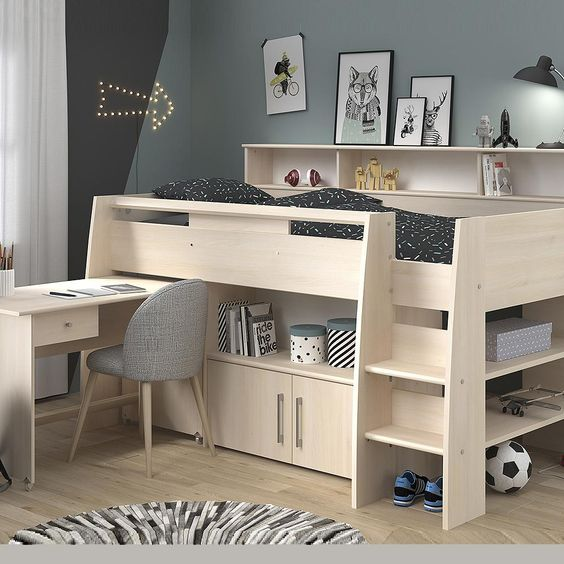 Parisot Kurt 1 Midsleeper Cabin Bed In 2020 Cabin Beds For Kids
