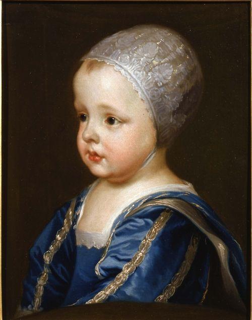 портрет младенца Джеймс LL - ча 1636 - сэр Антонис ван Дейк: