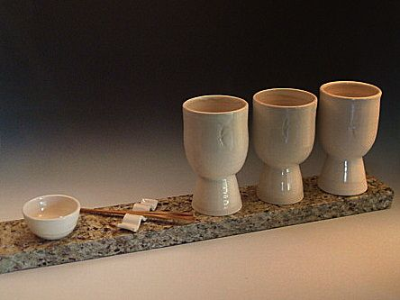 Tea For Three  Wallace Mallette Stone and Stoneware