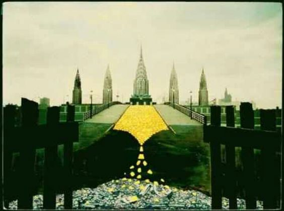 The yellow brick road leads to the Chrysler building
