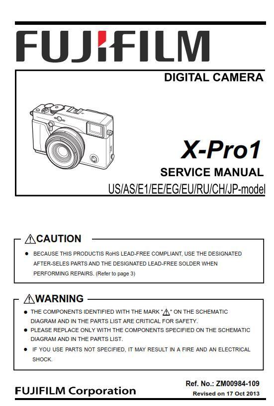 Fujifilm X Pro1 Digital Camera Service Manual Troubleshooting Guide Digital Camera Fujifilm Repair Guide