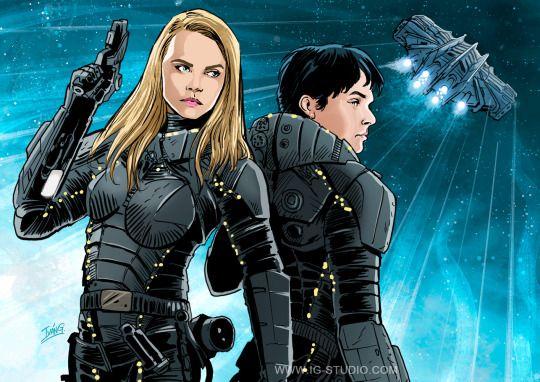 Ivan Garcia Illustration Comic Valerian Comic Valerian Sci Fi