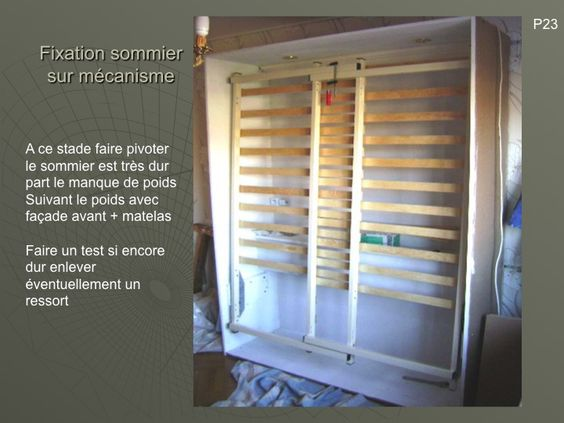 D co and bricolage on pinterest for Fabriquer un lit rabattable