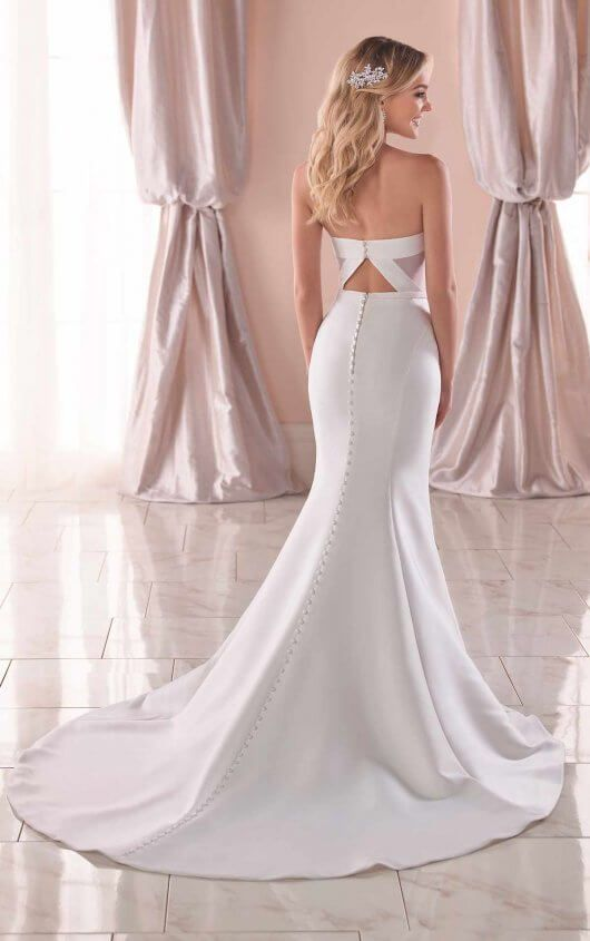 Simple And Modern Wedding Dress Stella York Wedding Dresses Wedding Dress Organza Modern Wedding Dress Fit And Flare Wedding Dress