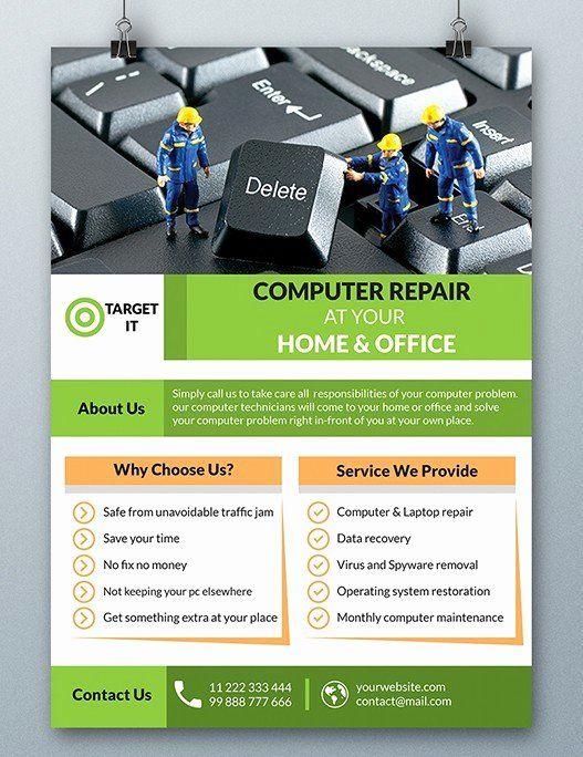Computer Repair Flyer Template Beautiful Free Puter Repair Flyer Template Psd Titanui Computer Repair Flyer Template Poster Template Design