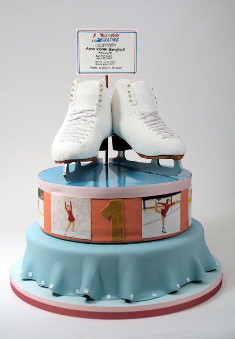 Ice Skating Figures Cake Decoration