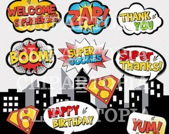 50% OFF SALE Girl Superhero Clip Art / Super hero by ClipArtopia