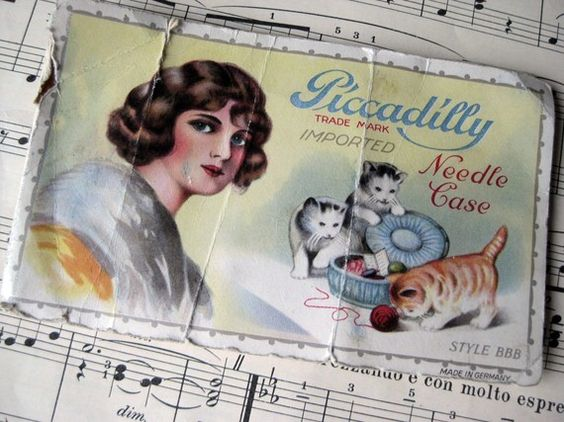 Shabby Antique Piccadilly Needle Book by littlevintageviolet, $4.50