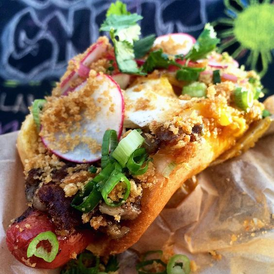 """#dailyfoodfeed on Instagram: """"SISIG HOT DOG!  Where my Filipinos at who know wussup with #sisig?!"""