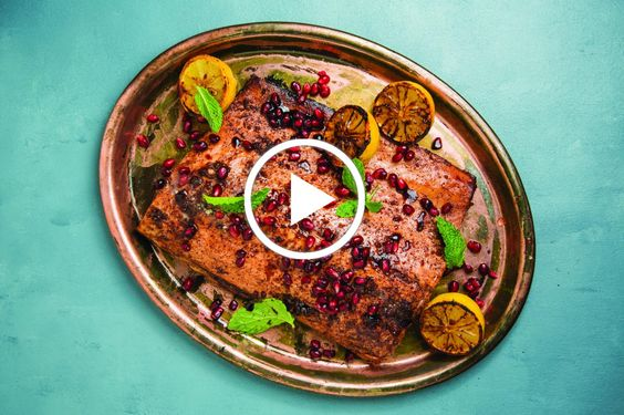 Pomegranate Sumac Salmon.