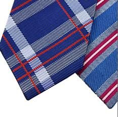 New Design Stylish Plaid Silk/Polyester Woven Necktie