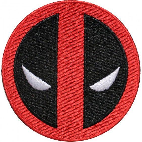 Official Marvel Universe X-Men Comics Deadpool Logo  Iron on Applique Patch