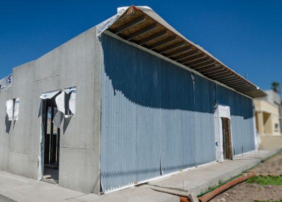 Vista del frente de la casa para este proyecto se - Casa de revestimientos ...