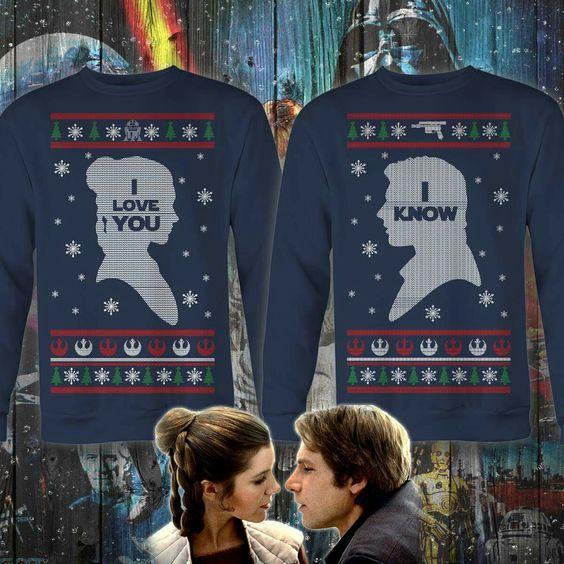 Couple's Christmas sweaters