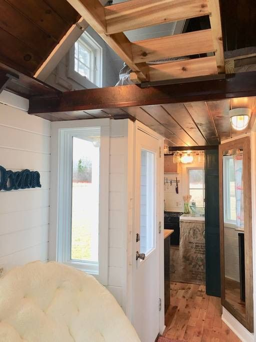 18ft Tiny Cottage On Wheels For Sale For 35k In Maine Tiny Cottage Tiny House Bathtub Tiny House Plans