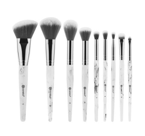 White Marble Bh Cosmetics Brushes Review Angled Brush Bh Cosmetics
