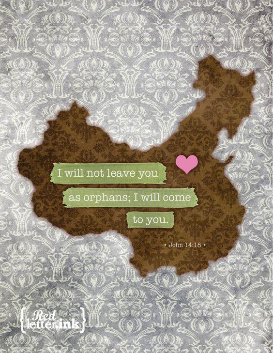 China Adoption Blank Note Cards (8 pk.) - 4.25x5.5. $15.00, via Etsy.