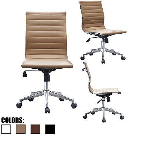 2xhome Tan Mid Century Modern Contemporary Executive Office Desk