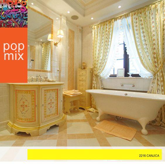 Crie um ambiente expressivo e elegante no banheiro da sua casa. A paleta PopMix traz uma combinação de cores intensas e pastéis para ousar na decoração. #Decor #Design